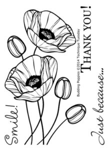 Technique-Tuesday-Budding-Poppies-Clear-Stamps-Medium