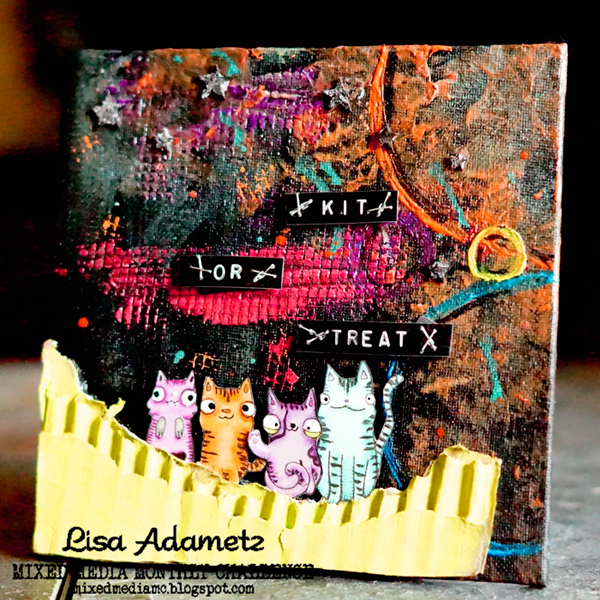 Lisa Adametz Mixed Media Monthly October