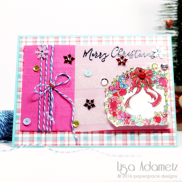 Pink Christmas - papergrace - 11272016